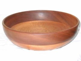 Wooden Bowl with Band