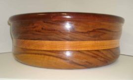 Large Bowl: Mahogany, Black Walnut and Oak
