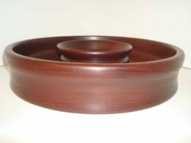 Mahogany Chip and Dip Platter