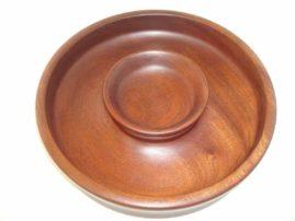 Mahogany Chip and Dip Platter