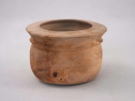 Small green-turned sweet gum bowl