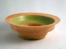 Poplar bowl with latex paint