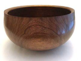 """Walnut bowl. 8"""" x 5"""""""