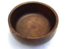 "Walnut bowl. 8"" x 5"""
