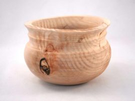 Green-turned sweet gum bowl